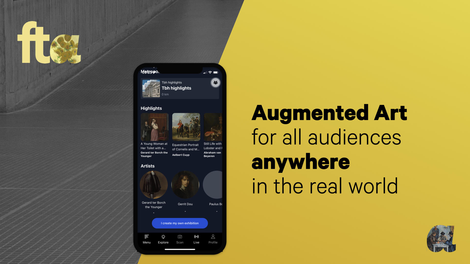 Augmented Art for all audiences anywhere in the real world